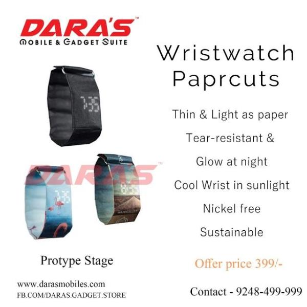 Paper watch first time in A.P.  at Daras mobiles , Vijayawada. For more info visit us at http://darasmobiles.in/Paper-watch-first-time-in-A-P-at-Daras-mobiles-Vijayawada/b360?utm_source=facebookpage