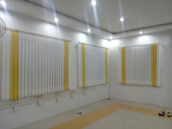 Vertical blinds. Cur