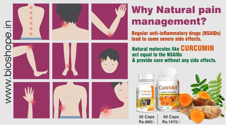 Why Natural pain management? The regular anti-inflammatory drugs (NSAIDs) lead to some severe side effects like gastrointestinal problems, allergic reactions, heart attacks and strokes. So having the confusion of conclude the problems year  - by Natural Wellness Inc., Chennai
