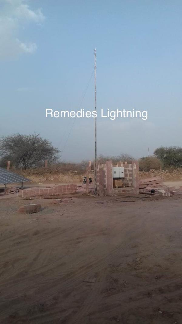 ESE Lightning Protection SystemsProduct :  ESE Lightning Arrester Standard : NFC StandardMake : REMEDIES KALRE Model : ALR 30Protection Radius : 48 meter at Level 1 Warranty: 30 Years Projects done by Remedies
