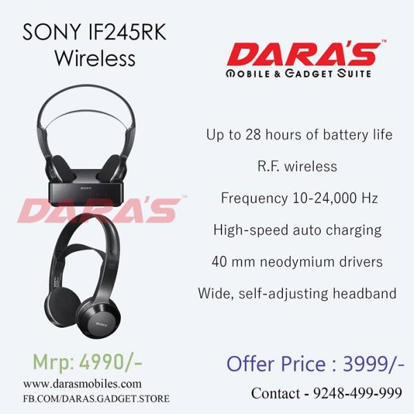 Up to 28 hours of battery life, Frequency 10-24, 000 Hz DARAS