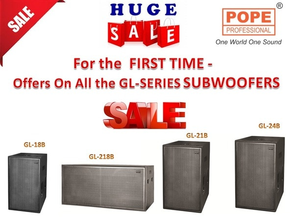 POPE GL SERIES ..deepest and most powerful folded horn Sub-woofer.Available in  ....single 18