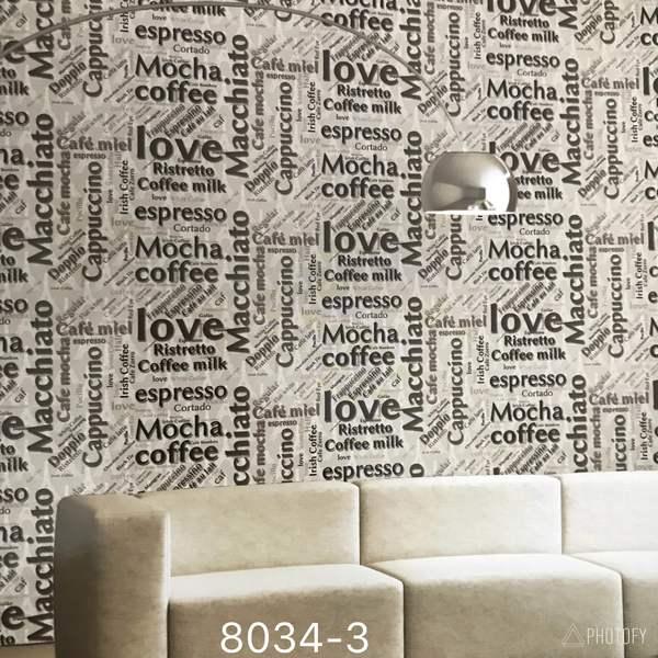 Best Imported Wallpaper supplier in Delhi.   Wallpaper for cafe & Restaurants.  Writing pateren in wallpaper for your Shops cafe and Restaurants.   Exquisite wallpaper.