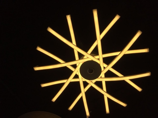 Led chandelier with 3 in
