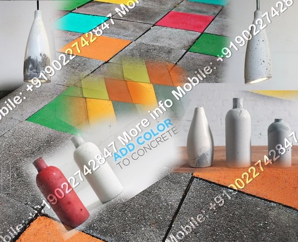 concrete color  KEY FEATURS 1, direct coloration of grey cement bases plaster 2, easy to use on site just add mix 3, no need to paint 4, delivers final finished colored surface 5, suitable for interior and exterior application 6, durable color-alkali and uv resistant  BENEFITS 1, coast saving in terms of material coast(saves coast of primer & paints) 2, saves labor cost of painting 3, saves time by eliminating primer & two coats of paint job 4, reduction of overall project cost 5, compatible with waterproofing and binding agents/compounds 6, same color is visible even after any chipping/peeling or blistering of putty 7, eco friendly-eliminates/reduces the use of paints