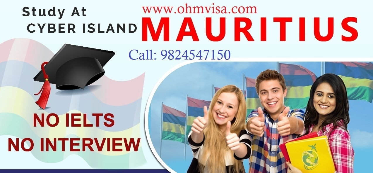 Study in Mauritius. Study Hotel Management, Business Management and IT courses in Mauritius.  Why one should study in Mauritius?  •Mauritius is a religiously diverse nation •20hrs./week Part-time work  •No additional Exams for admission •Enjoy World Famous beaches while studying •No advance payment before Visa  Ohm Consultant is the best student visa consultant for Mauritius in Ahmedabad. Call us on +91-9824547150.