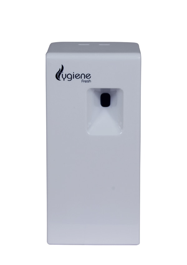 Air Freshener For Office Cubicle In Delhi  Automatic Air Freshener Dispenser which is 37% smaller than other systems, and mini aerosol refills make the system extremely easy to place and store.  Indo Technologies Is One Of The Largest and oldest Distributors of Hygiene and cleaning Products like Air Freshener For Office Cubicle in Delhi NCR