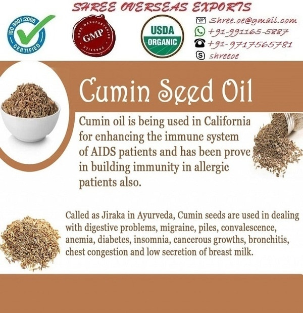 Cumin seed oil's Exporter