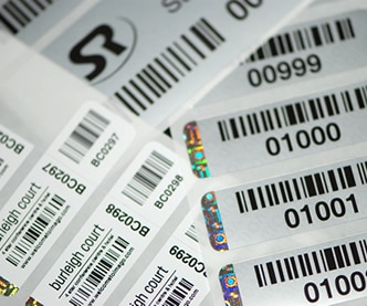 Holograms on Barcode Labels