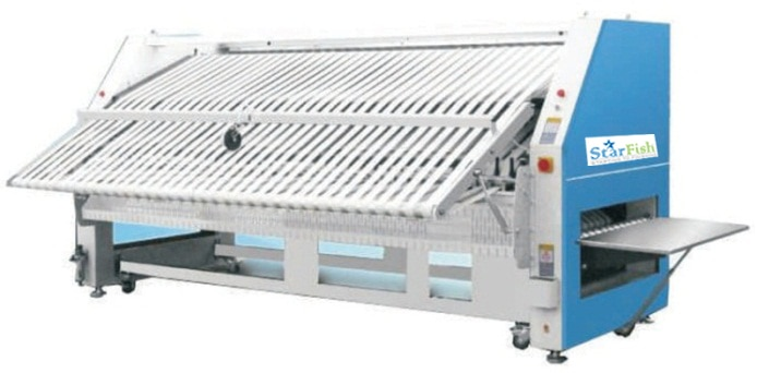 Hospital Bed sheet Folding machine in GangavatiNITC - Top Best manufacturers of Commercial Laundry Washing Machine, Laundry Bed sheet Folding machines, Laundry Dry Cleaning machines, Diesel Fired Boiler, Laundry Ironing table.
