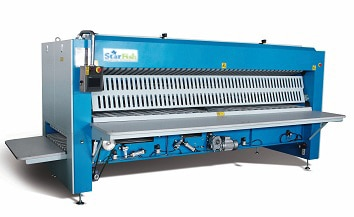 Hospital Bed sheet Folding machine in MadikeriNITC - Top Best manufacturers of Commercial Laundry Washing Machine, Laundry Bed sheet Folding machines, Laundry Dry Cleaning machines, Diesel Fired Boiler, Laundry Ironing table.