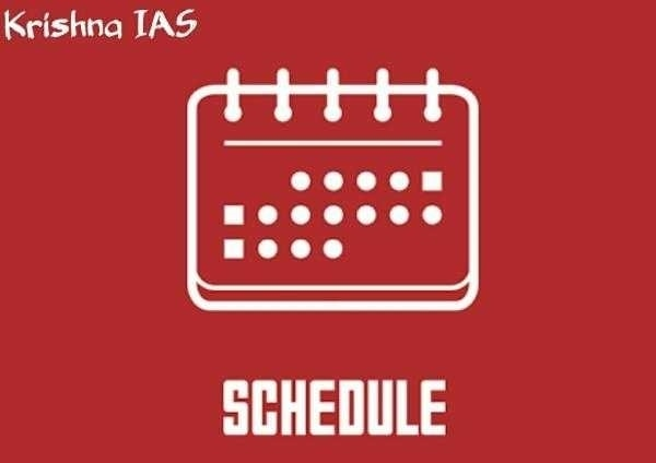 Schedule of Lectures onW