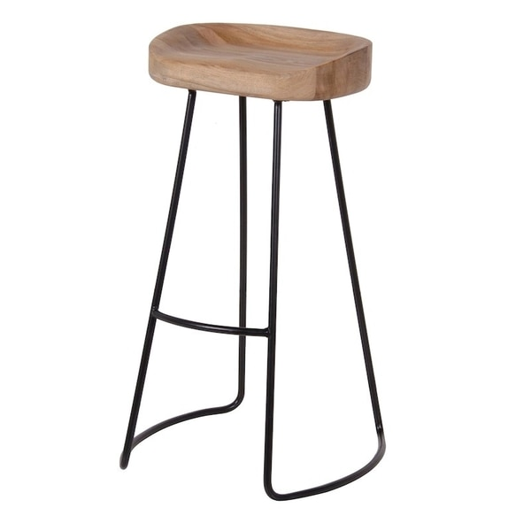 Industrial stool, top is made