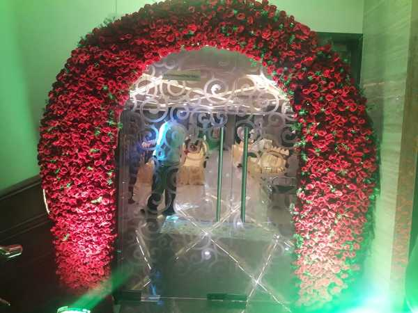 Theme wedding reception @Hotel SVM GRAND, Medipally.Please visit our banquet halls, luxury rooms, bar and restaurant.