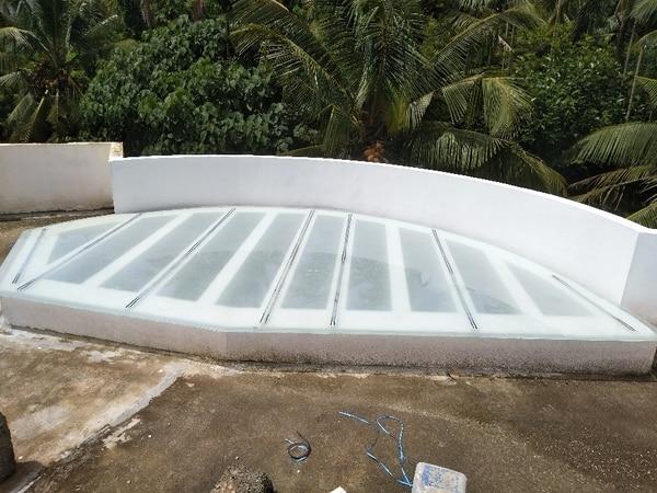 Pergola glass work