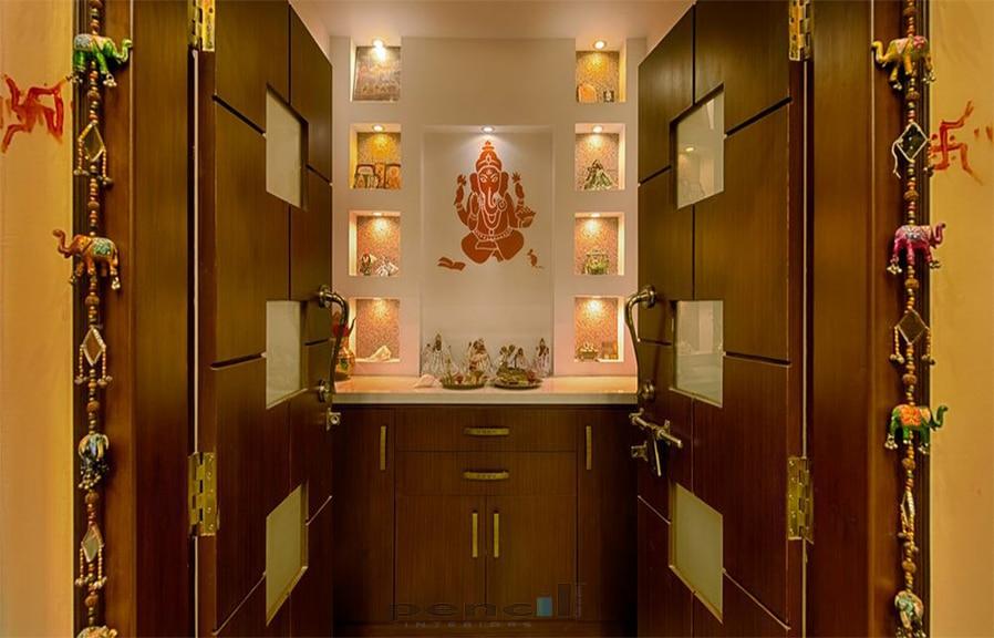 pooja unit designed