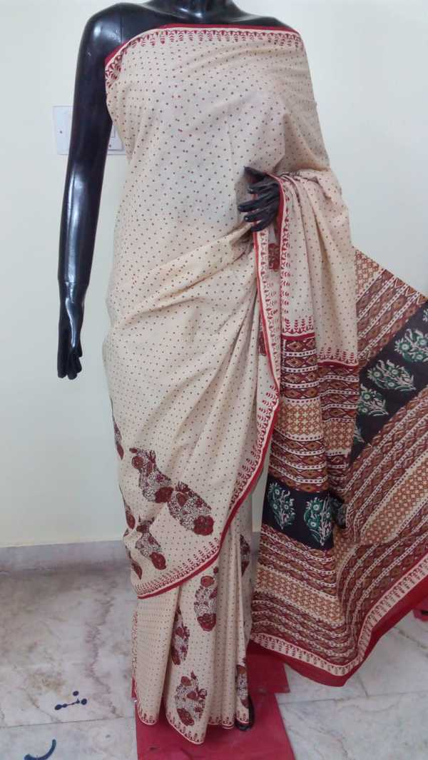 Buy these Cotton mulmul saree