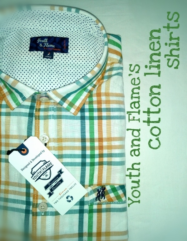 Cotton linen shirts.From