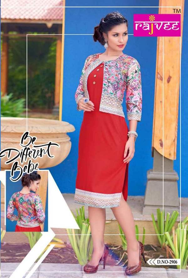 Kurti with coat mode