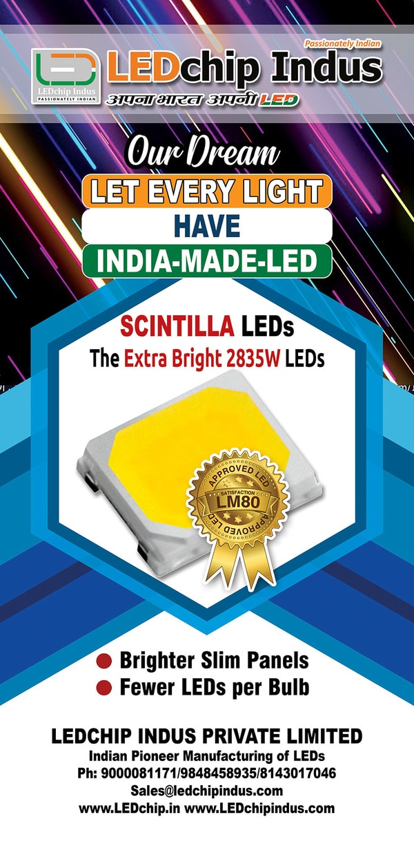 LEDchip Indus holds the dream dearly - that - LET EVERY LED LIGHT HAVE A INDIA-MADE-LED inside. LEDchip launched SMD LEDs 2835 package made of advance LED chip, Substrate & Materials inside, which result in brightness exceeding all the SMD LEDs in its class - all at a surprising PRICE point. The 9V 100mA 1 Watt LEDs at 5700K, 6000K, 6500K range with CRI of Ra80 deliver a  140 lumens. The WHITE LEDs from KWALITY are POWER LEDs with High reliability, Anti Sulfuration, Low Depreciation, LM80 approved. Main applications are 5STAR Bulbs , Batons & Panels & Street Lights. Send your enquiry mentioning the quantity to obtain best prices GVRao 9848458935 sales@LEDchipindus.com Making EXCELLENT LEDs in India since 1987.India's LEADER in LED manufacture with LM80, CDOT, CACT and BIS certifications.