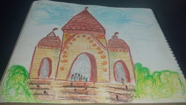 Paintings by our students for