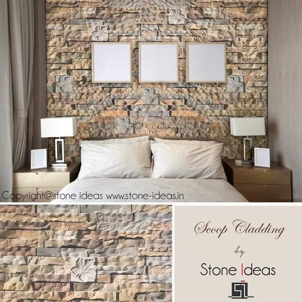 Dress up your wall with this new scoop cladding range.Explore Now!!#wallcladding #stonecladding #scoopfinish #walldecor#stoneideas #india