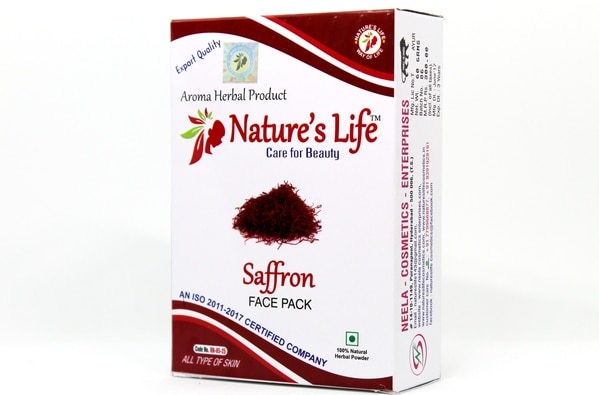 Saffron face pack helps to get