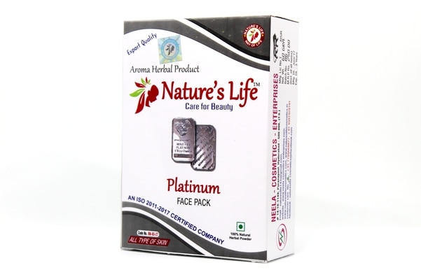 Platinum face pack helps to ge