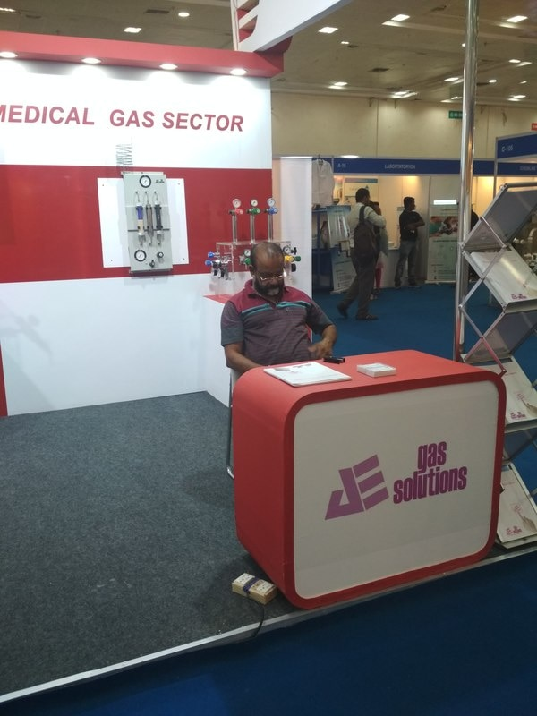 stall for water expo, Welding