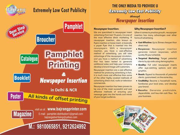 Pamphlet Printing In