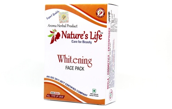 Whitening face pack acts as sk