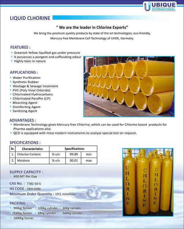 Liquid Chlorine   Product Deta