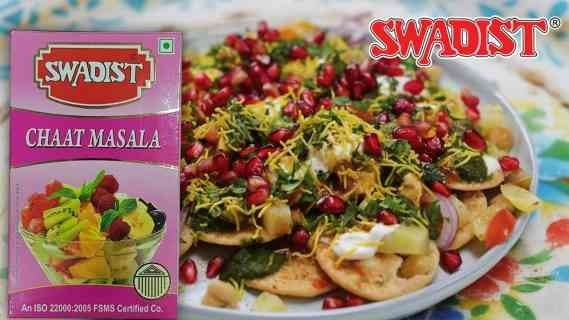 Chats are favourite to all for its classy taste and trendy looks. If Swadist's Chaat Masala added to Chaat it makes Tongue-tickling. Made of pure spices, combined smartly with pungent ingredients like black salt and amchur powder, Swadist Spices Chat masala has a strong aroma, which draws one to any dish it is added to. Swaad Jo Sada Rahe Yaad. Eat pure live healthy.