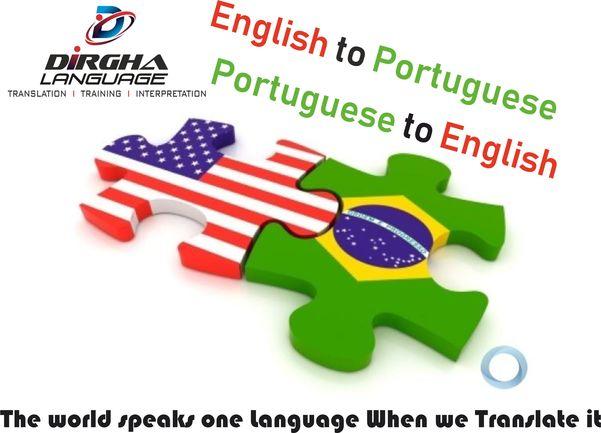 Portuguese to English language