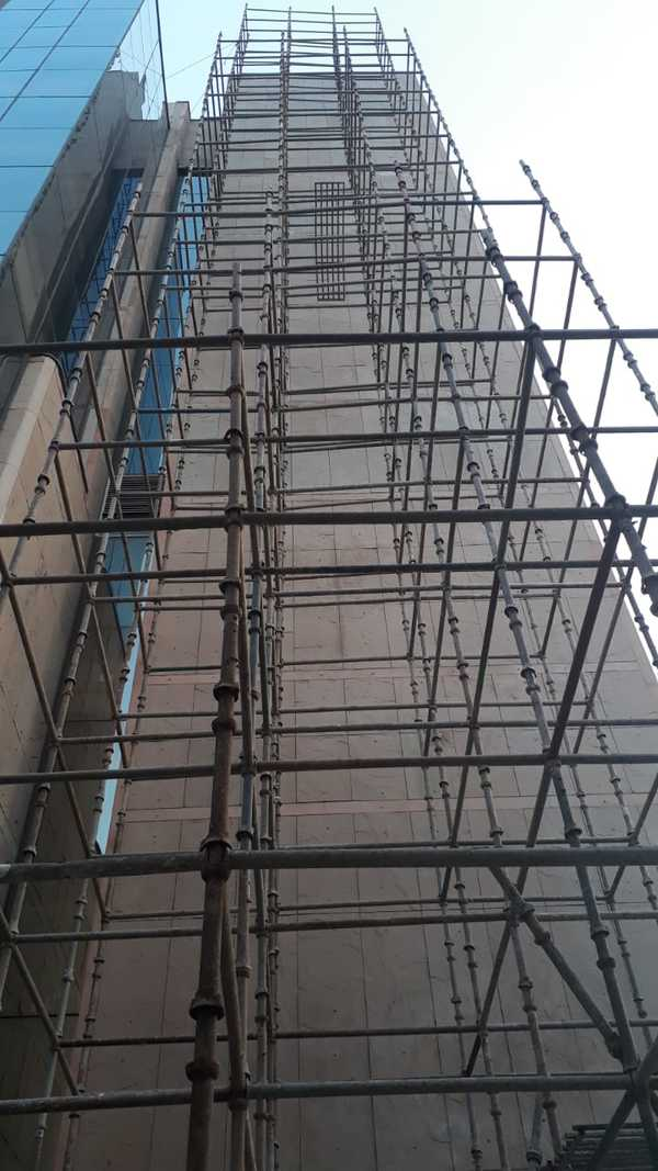 Scaffolding being in