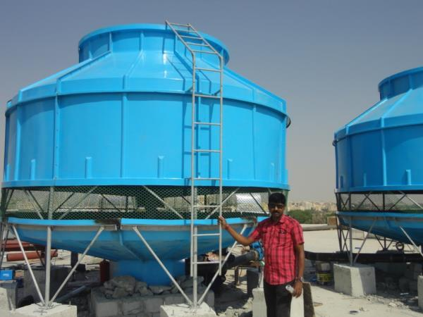 Cooling Tower manufacturer We have become a dominant player in the market of manufacturing and supplying Cooling Tower. It's main job is to remove the heat absorbed in the circulating cooling water systems in power plants, refineries, petrochemical plants, natural gas plants, food process plants and for other industrial facilities. Our expert workforce uses quality grade materials to manufacture this tower. It is built to cool water with natural atmospheric air and then water is sprayed with the help of spray nozzles. Air flow in this Cooling Tower is almost constant regardless ambient air temperature. It is the most effective and economical solution to most of cooling needs.