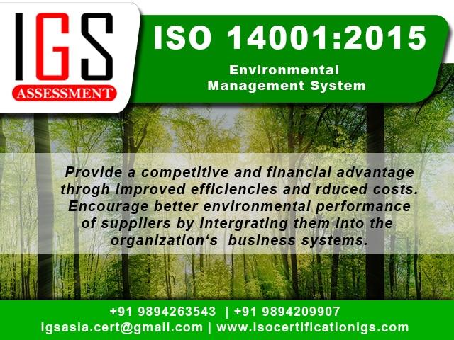 Benefits of ISO 14001:2015  De