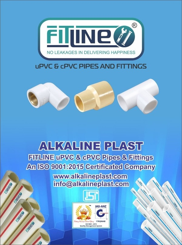 Greetings to you the people who have supported us in this journey to upbring FITLINE as a brand trusted by its Sellers and Proud Consumers.With this Winter beginning to cool the water and our Channel Partners who have always requested for expanding our range for this season, we at Alkaline Plast take pride in offering our new range of products to keep you warm and happy with FITLINE cPVC Pipes & Fittings.FITLINE now offers you all with uPVC & cPVC Pipes and Fittings for your complete solution to Cold & Hot Water Application. The products are already under production and we are doing our best in trying to provide you with the complete range at earliest. We once again thank you for the support and request you all to keep trusting us and helping us grow at each point of Growing Stage.