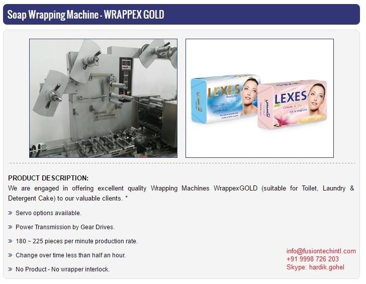TOILET SOAP PACKING MACHINE MA