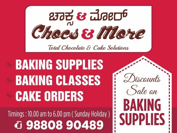 Discount sale on Cake baking s