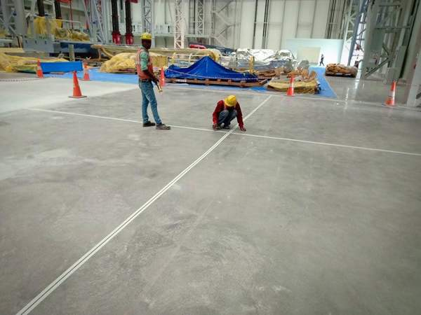 Epoxy industrial flooring with