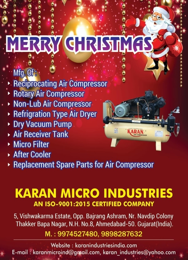 air compressor manufacturer in Ahmedabad. Also export to Gulf and African country.