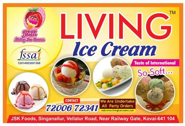 Best Icecreams In manufacturers CoimbatoreMarriage Function, Marriage Receptions, House Warming Function, Valaikappu Function, Katthukuthu Function, Office, Corporate Functions, Mall Functions and Events