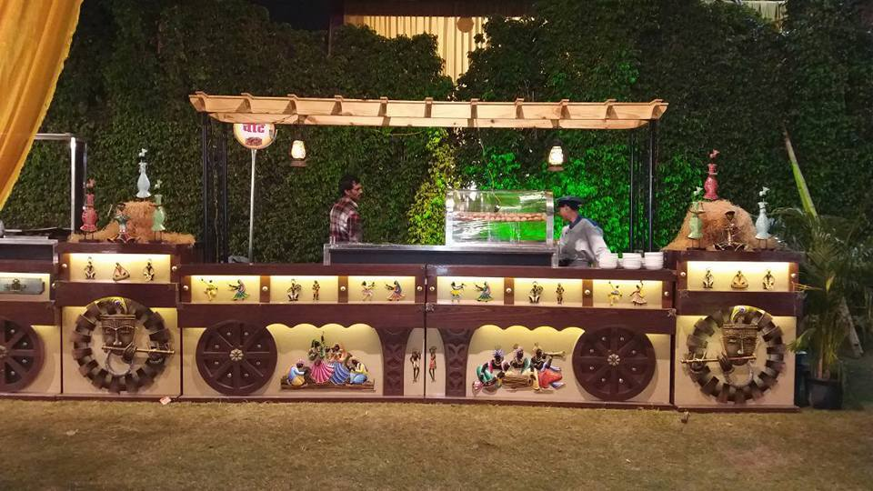 Wedding Catering Counter Decor