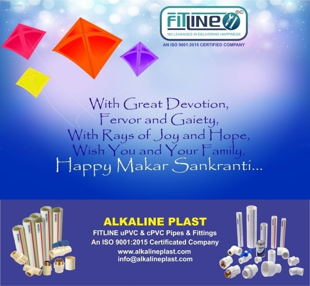 We at Fitline Alkaline Plast wish you all a very Happy Makar Sankranti.The festival dedicated to Lord Surya and marking the beginning of the auspicious period known as Utrayana Period.