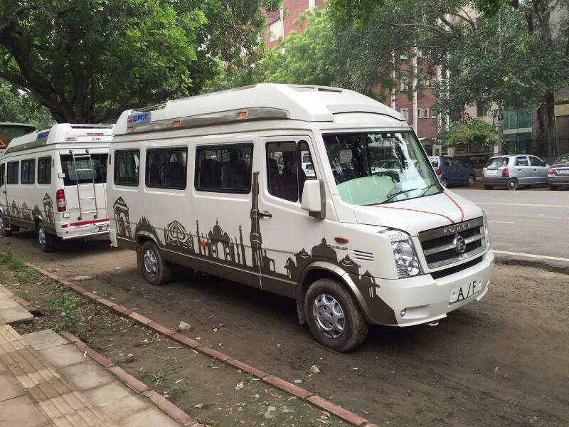 tempo traveller on hire   #hir