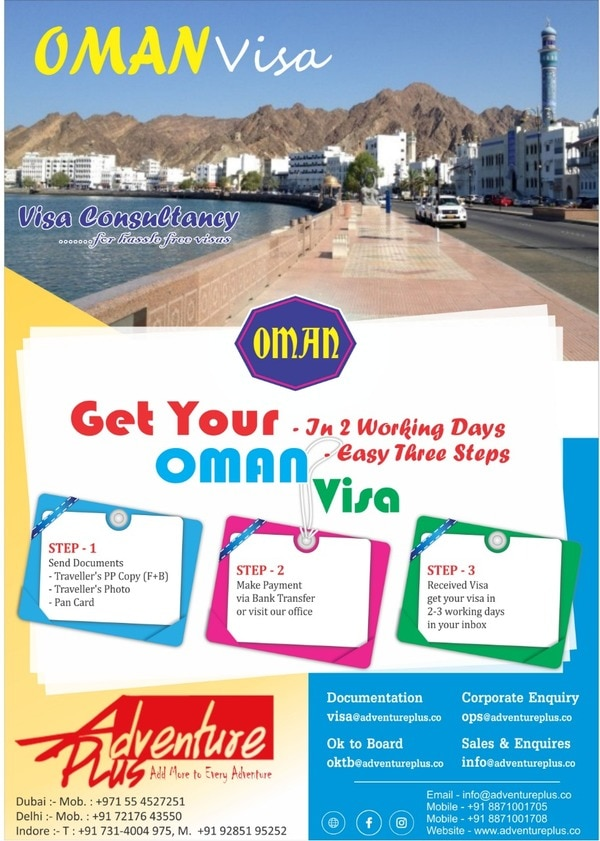 Get Your Oman Visa only in two