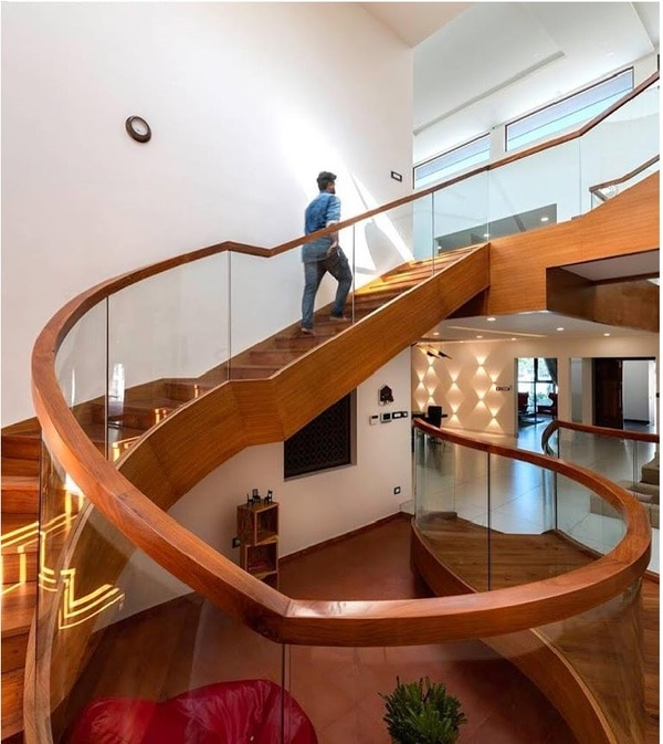Bend Glass HandRail fabricated and Installed by Excel Team. Site : Residence TrissurLocation: TrissurWe Design, Engineer, Fabricate and Install entrance solutions , Automatic doors , glass façades . Calicut, Kannur, Malappuram, Wayanad, Kochi, Thrissur, Kottayam, Trivandrum, Bangalore, Mysore, Mangalore, Coimbatore and Chennai