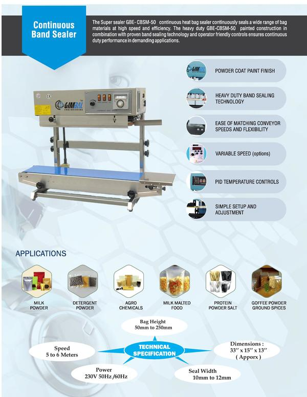 Standy Pouch sealing machine m
