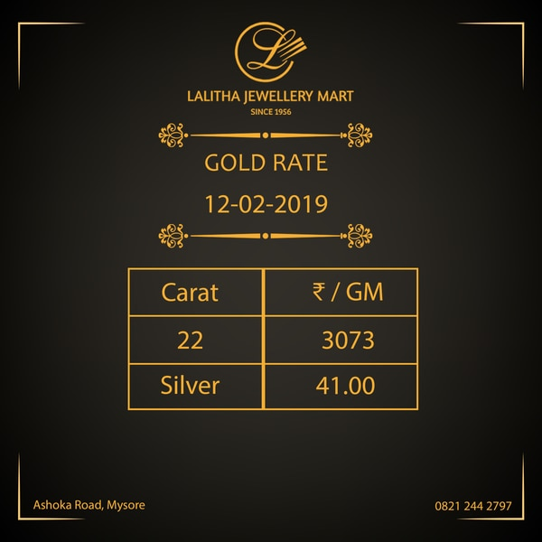 Gold rate - Rs 3, 073/- per gm